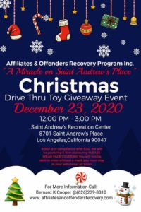 AORP Will be hosting its 4th Annual Toy Giveaway All are welcome